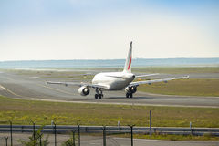 Airplane on the runway Royalty Free Stock Image