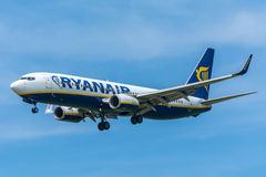 Airplane Ryanair EI-DAC Boeing 737-800 Royalty Free Stock Image