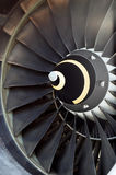 Airplane's jet engine Stock Image