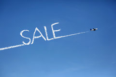 Airplane sale cloud copy Stock Photo