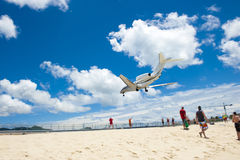 Airplane Sand Beach Royalty Free Stock Image