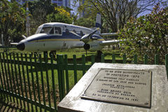 Airplane in Santos Dumont Park - SJC - Brazil Stock Image