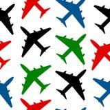 Airplane seamless pattern Stock Image