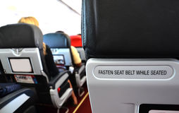 Airplane seat Royalty Free Stock Photography