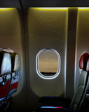 Airplane Seat Inside The Cabin Plane Royalty Free Stock Image