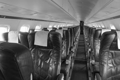 Airplane seating Royalty Free Stock Photos