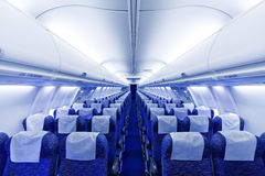 Airplane seats stock image