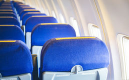Airplane seats Royalty Free Stock Images