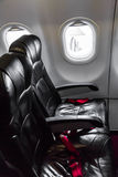 Airplane seats in the cabin Royalty Free Stock Image