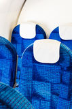 Airplane seats empty Stock Photo