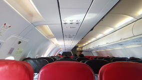 airplane seats in front view Royalty Free Stock Image