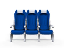 Airplane Seats Isolated Stock Photography