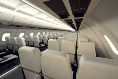 Airplane seats. Royalty Free Stock Photography