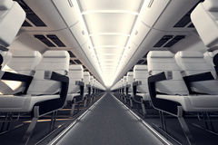 Airplane seats. Royalty Free Stock Photo