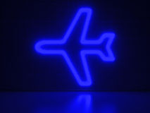 Airplane - Series Neon Signs Royalty Free Stock Images