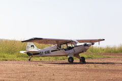 Airplane service in Maasai Mara Park in Kenya Stock Image