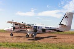Airplane service in Maasai Mara Park in Kenya Royalty Free Stock Image