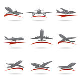 Airplane set. Vector Stock Photo