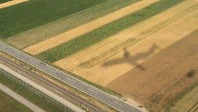Airplane shadow stock video