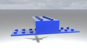 Airplane Shadow revealer Stock Photos