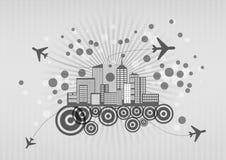 Airplane shape city Royalty Free Stock Image