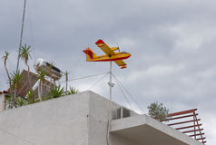 The airplane-shaped weather vane Royalty Free Stock Photos