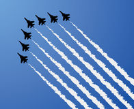 Airplane show Royalty Free Stock Images