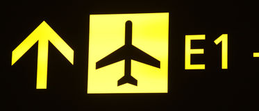 Airplane sign Stock Images