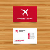 Airplane sign. Plane symbol. Travel icon. Stock Photography