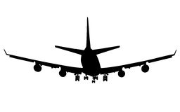 Airplane silhouette Stock Photo