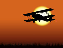 Airplane silhouette Stock Image