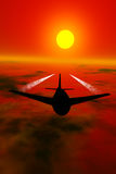 Airplane silhouette Royalty Free Stock Photos