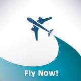 Airplane silhouette, background Royalty Free Stock Images