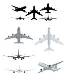 Airplane silhouettes collection Stock Photo