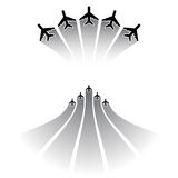 Airplane silhouettes sets Stock Photography