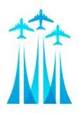 Airplane silhouettes Stock Photos