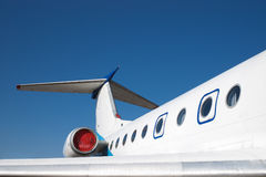 Airplane and sky Royalty Free Stock Photography
