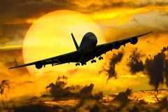 Airplane, Sky, Aviation, Aircraft Stock Photo