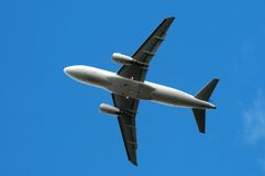 Airplane on sky background Royalty Free Stock Image
