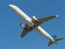 Airplane in the sky Stock Image