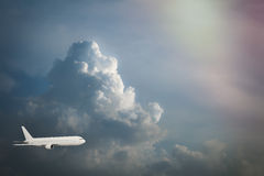 Airplane in the sky Stock Photos