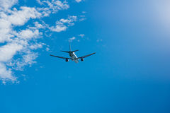 Airplane in the sky Royalty Free Stock Photography