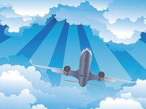 Airplane in the Sky Royalty Free Stock Image