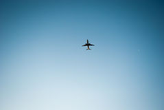 Airplane in the sky. So far Royalty Free Stock Image