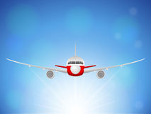 Airplane sky Royalty Free Stock Photography