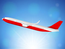 Airplane sky Stock Images