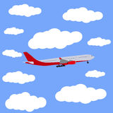 Airplane in the sky icon, vector Royalty Free Stock Image