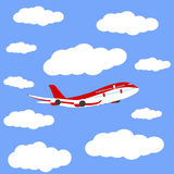 Airplane in the sky icon, vector Stock Photography