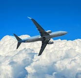Airplane and sky Stock Photography