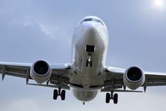 Airplane  and sky in  Japan Stock Images